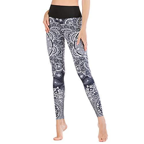 LANSKRLSP Pantalones de Yoga para Mujer Casuales Deportiva Pantalones Deportivos Jogging Elasticos Gym Transpirables Cintura Alta Joggers de Running