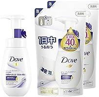【Amazon.co.jp限定】 Dove(ダヴ) ビューティモイスチャー クリーミー泡洗顔料 ポンプ + 詰替え 160ml+140ml×2個 + おまけ付
