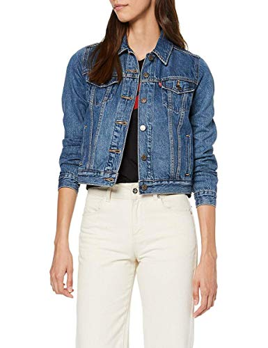 Levi's Damen Original Trucker Jeansjacke, Blau (Soft As Butter Dark 0063), X-Small