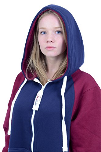 The Classic Unisex Onesie in Inky Blue and Maroon Sides - 3