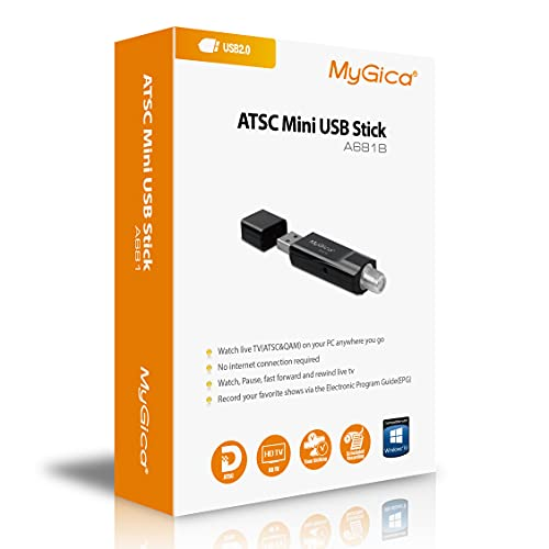 MyGica Hybrid USB TV Tuner, ATSC, Clear QAM HDTV & Digital Radio,for...