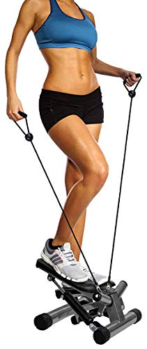BalanceFrom Adjustable Stepper Stepping Machine with Resistance Bands, Gray from BalanceFrom