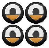 RVTYR 4 STÜCKE Rad HUB Center CAPS, 56MM Rim Center CAPS Emblem, für Smart fortwo forfol 450 451 454 453 Sharpread Roadster PearlGrey...