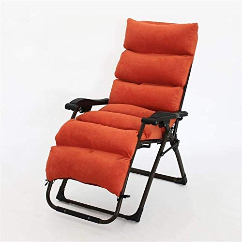 COLOM Sun Lounger Garden Chairs Patio Lounger Chair,Over (Color : Orange)