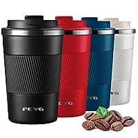 feyg thermos 380ml, termos caffè piccolo, termos con coperchio-tazza in acciaio inossidabile, 100% a prova di perdite thermos caffe adatto per bevande calde e fredde, bevande, tè, caffè