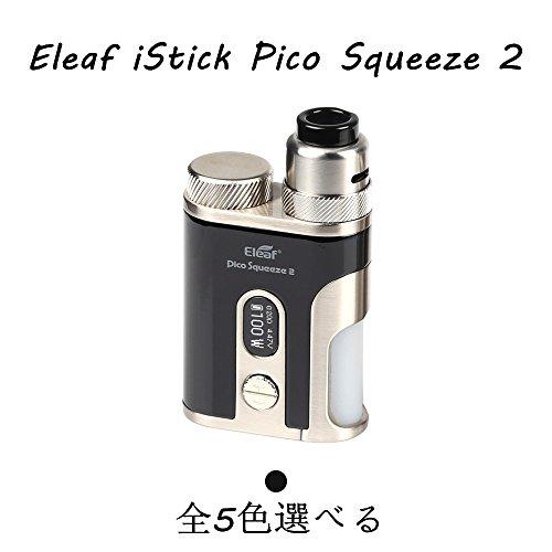 Eleaf iStick Pico Squeeze 2 電子タバコ VAPE ベイプ 100W Mod Kit + AVB 21700 電池付き セット イーリーフ アイスティック ピコ 高性能 コンパクト 禁煙 全5色 (ブラック)