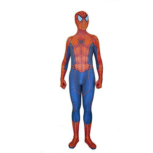 Peter Parker Spiderman Combinaison Body Halloween Costumes Accessoires Héros Supérieur Spider-Man Cosplay Costume Adulte Enfants Halloween Costume De Noël Prop Adulte Accessoires De Fê(Size:130-140cm)