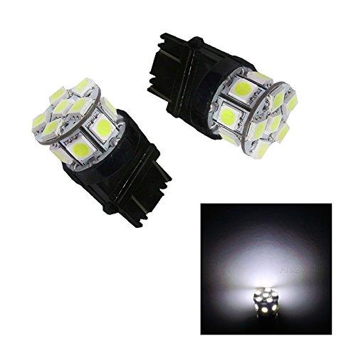 PA 2 x 13smd LED 3157 3457 A 3156 Arrêt automatique de la lumière/arrière/Side Marker Light/feu arrière/Turn Signal ampoules 12 V (Blanc)