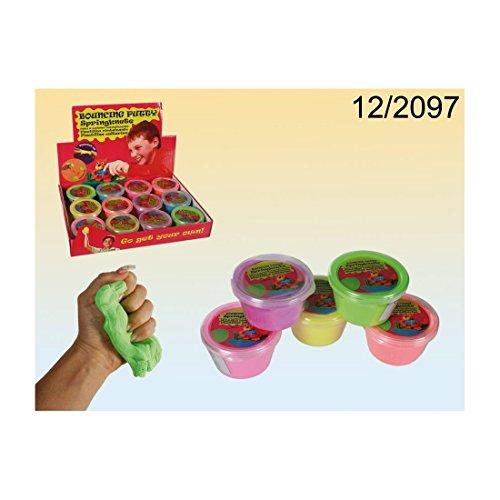 6 Dosen Flummimasse Bouncing Putty Hüpfknete Springknete Knete