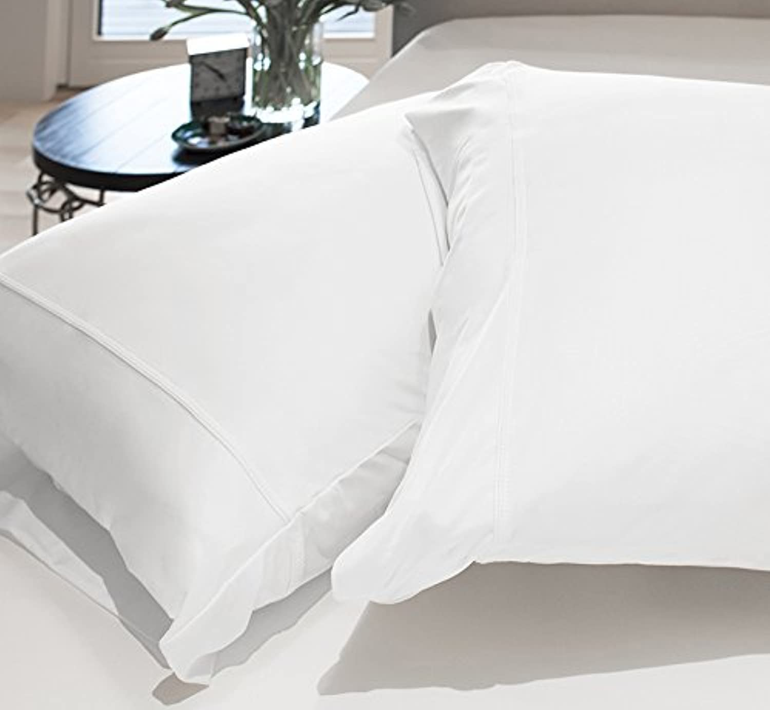 SHEEX Original Performance Pillowcases (Set of 2), Ultra-Soft Fabric Transfers Body Heat and Breathes Better Than Traditional Cotton, Bright White (King)