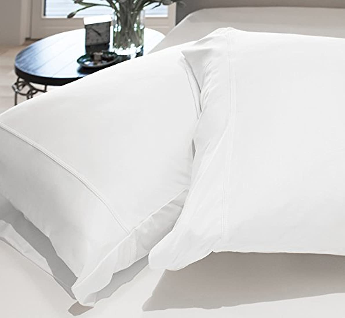 SHEEX Original Performance Pillowcases (Set of 2), Ultra-Soft Fabric Transfers Body Heat and Breathes Better Than Traditional Cotton, Bright White (Standard)