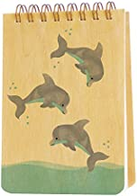 product image for Night Owl Paper Goods Dolphins Wood Jotter Notepad
