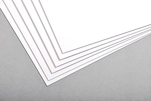 Clairefontaine 33018C Bristolkarton Pack, 100 Bögen, 50 x 65 cm, 300 g, blanko, weiß