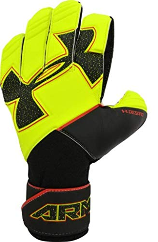 Under Armour UA Challenge GK Desafio Pro Goal Keeper Gloves Youth Size 6 (Hi-Visibility Yellow/Black)