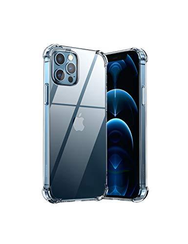 UGREEN Transparent Schutzhülle kompatibel mit iPhone 12 Pro Hülle Handy Hülle TPU Handyhülle Cover Hülle dünn 360 Grad Staubdicht Stoßfest Anti-Fingerabdruck Vergilbungsfrei Crystal Clear