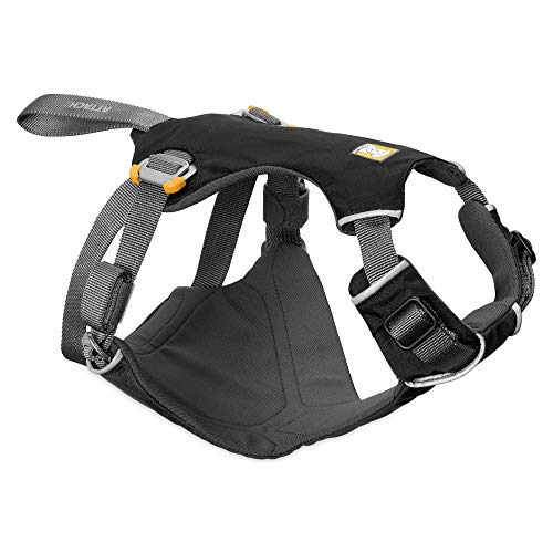 RUFFWEAR - Load Up, Dog Car Harness with Strength-Rated Hardware, Secure Vehicle Restraint, Universal Seat Belt Attachment, Obsidian Black, Large/X-Large