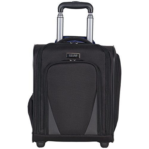 Kenneth Cole Reaction Going Places 16' 600d Polyester 2-Wheel Underseater Carry-on Luggage, Black