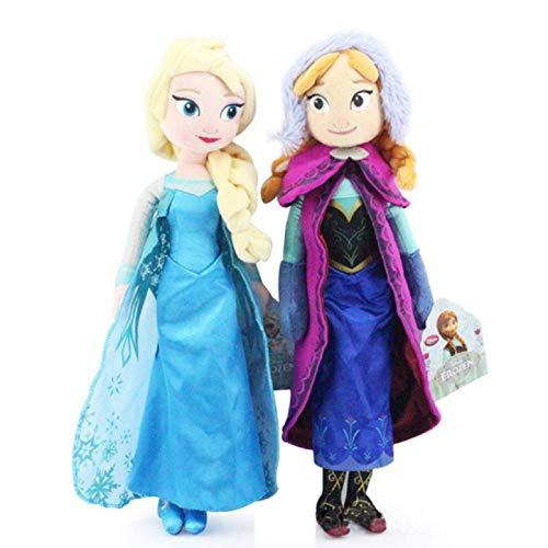 2 Unids / Set 40 Cm Princesa Congelada Anna Y Elsa Juguetes De Peluche Muñecas Lindas Almohadas De Peluche Suaves Niños