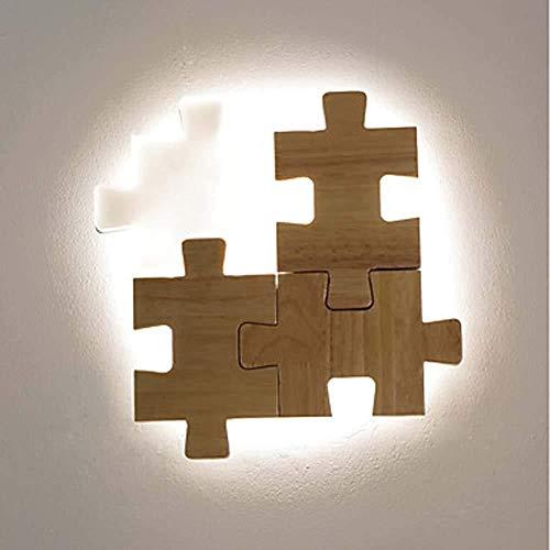 Wandlamp van Stalen met heldere LED-afstandsbediening, dimming, moderne moderne inbouw-wandlamp, studeerkamer, kantoor, hout, bamboe, wandlamp 18 W, wandverlichting