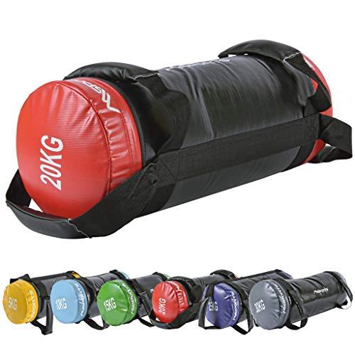 MSPORTS Power Bag Premium 5-30 kg Fitness Bag - Sandsack für Functional Fitness Gewichtssack (20 kg)
