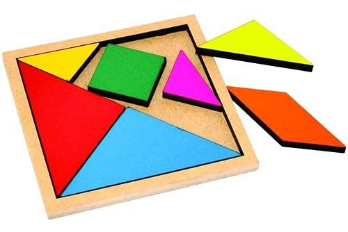 Brinquedo/Jogo Tangram Quebra Cabeça Montessori Pedagógico