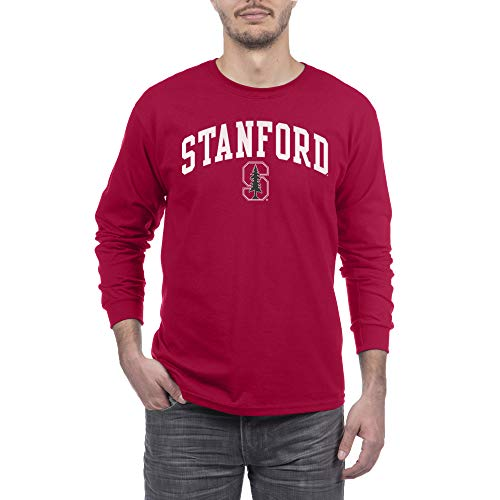 Elite Fan Shop NCAA Herren Langarmshirt, Herren, Team Color Arch Long Sleeve Shirt, Scharlachrot, XX-Large