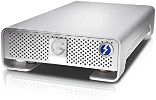 G-Technology 4TB G-DRIVE with Thunderbolt and USB 3.0 Desktop External Hard Drive, Silver - 0G03050