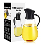 Oil Dispenser Bottle,Cooking Container Bottle 20.5 oz Glass Olive Oil Dispenser Non-Drip Kitchen