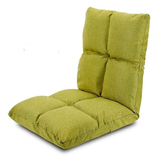 WTDlove Faltbare Flanell-Bodensitzing Mit Dickem Pad, 8-Gitter-weiche Bequeme Bodenstuhl, 6-Position-Verstellbarer Bodensitz Tragbarer Lazy Lounge-Sofa Für Zuhause(Color:Grün)