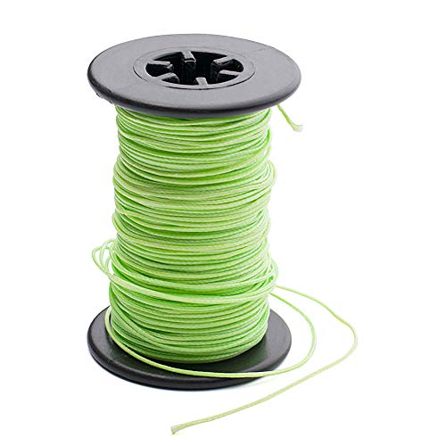 Huanggui Archery Bowstring Serving Thread - 30 Meter/Roll 0.021' Fluorescent Green Thread for Recurve Longbow Compound Bow Crossbow (0.021 Fluorescent Green Thread)