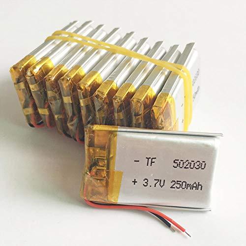 rpbll 3,7 V 250 mAh Polymer Lithium Lipo Akku wiederaufladbar 502030 Großhandel CE FCC ROHS Sicherheitsdatenblatt Qualitätszertifizierung für MP3-10 Stück