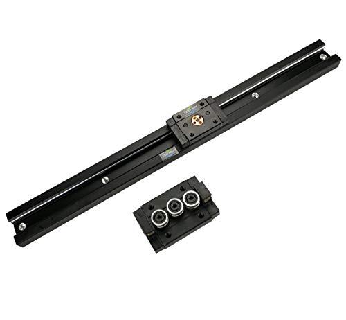 TEN-HIGH Guide linéaire double axe avec traitement anodique noir 1300mm rail linéaire SGR20 avec 2 blocs de chariot SGB20-3UU pour imprimante 3D et machine CNC