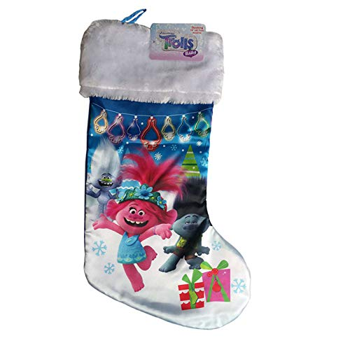 Ruz Trolls Holiday Christmas Satin Stocking with Plush Cuff 18 inch (9842)