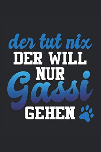 Tut Nix Gassi Gehen Hund Hundefreund: Notizbuch - Notizheft - Notizblock - Tagebuch - Planer - Kariert - Karierter Notizblock- 6 x 9 Zoll (15.24 x 22.86 cm) - 120 Seiten