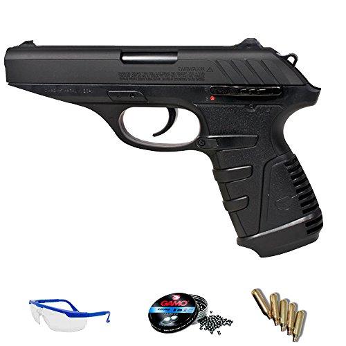 Gamo Pack Pistola CO2 P25 blowback balines Plomo perdigones