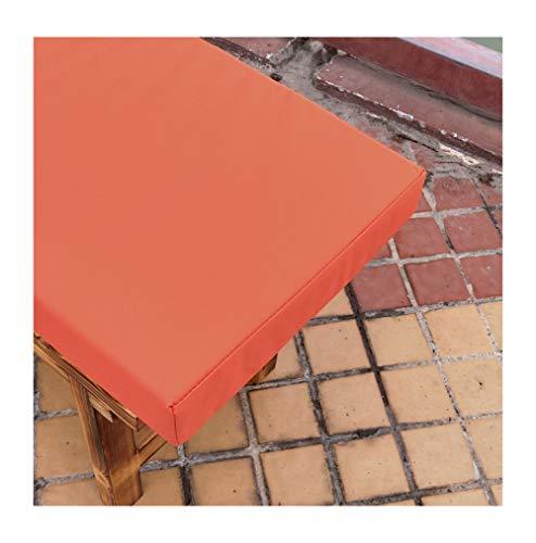 bandezid Cojín de Banco,Cojines para Muebles de jardín,99% Impermeable Interior Exterior Largo Cojín De Asiento Almohadillas Multicolor Varios tamaños-Naranja 150×40×5cm(59×15×2in)