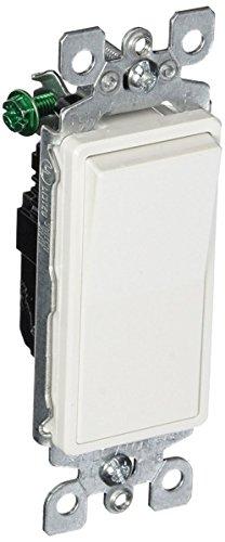 Leviton 5601-2WM 6 Pack 15Amp 120/277V Decora Rocker Single Pole AC Quiet Switch, White