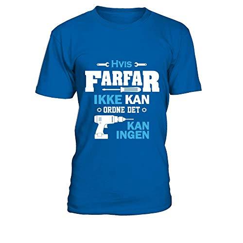 TEEZILY Camiseta Hombre FARFAR KAN ORDNE DET - rul Ned - Azul...
