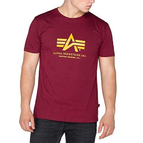 Alpha Industries Basic T-shirt avec logo Bordeaux M