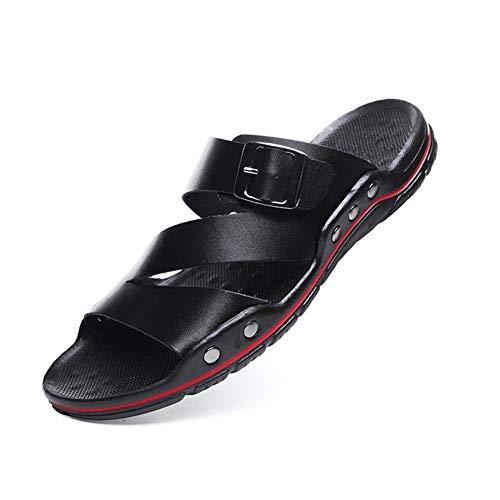 New Shoes Casual Beach Respirante Sandales Hommes, Doux Sole été Hommes Sandales Tout-Match et Chaussons Mode Casual Pantoufles à Bout Ouvert pour Homme (Color : Black, Size : 41)