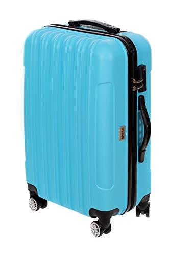 Birendy - Hartschalenkoffer 35004 Trolley mit 4 Rollen Zahlenschloss und Ausziehgriff - Größe XL oder als Gepäck-Sets - blau