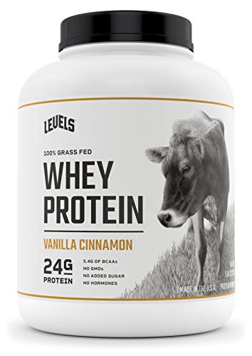 Levels 100% Grass Fed Whey Protein, No GMOs, Vanilla Cinnamon, 5LB