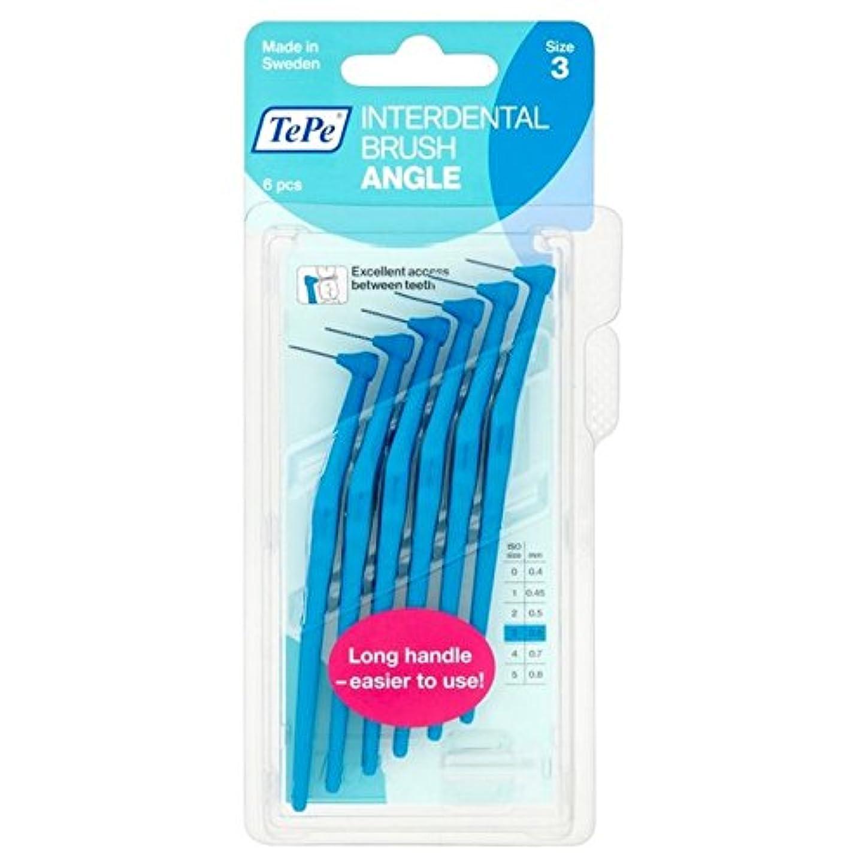 アスペクトマーク印をつけるTePe Angle Blue 0.6mm 6 per pack - パックあたり0.6ミリメートル6青テペ角度 [並行輸入品]