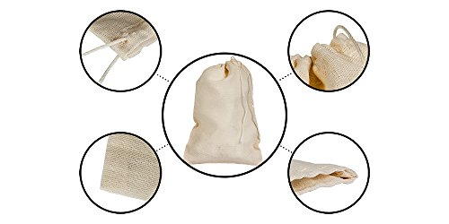 Celestial Gifts Cotton Muslin Bags 50 Count (3 x 5 inches) Natural Drawstring, Made with 100% Cotton in The USA