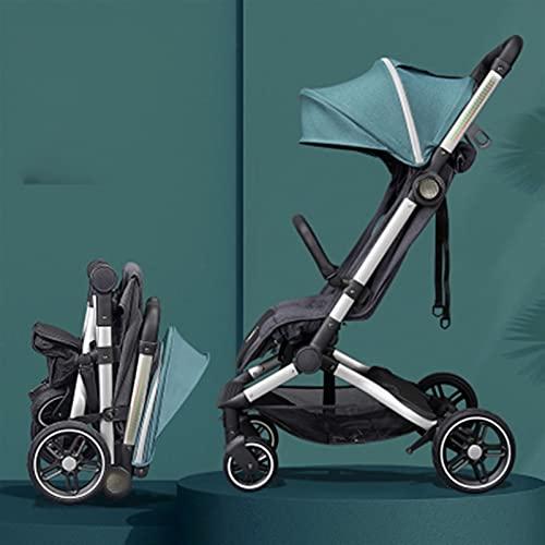 ZHYLing Cochecito de bebé Sentado y Mentira Super Light Carrito Plegable para...