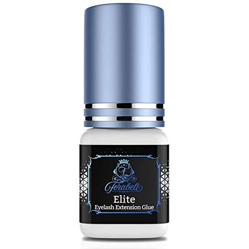 Elite Fast Eyelash Extension Glue - Forabeli 5 ml / 1 Sec Drying time/Retention 7 Weeks/Fast Drying Black Lash Adhesive for Professionals/Eyelash Extension Supplies