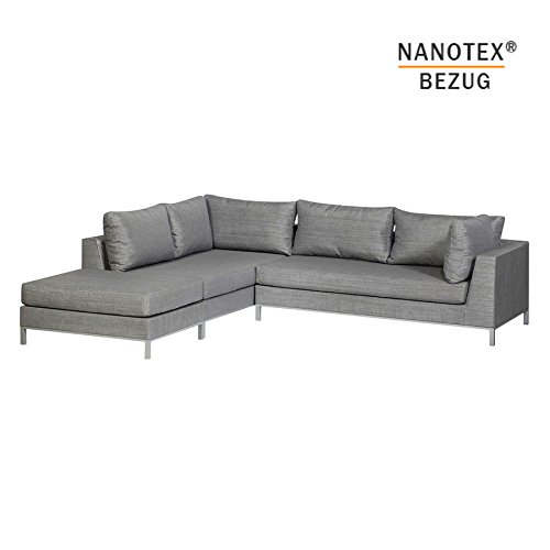 EXOTAN® NANOTEX SICILIE Lounge Links - Stone Grey