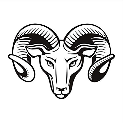 Wall Stickers,Bedroom Living Room Dining Room Wall Sticker Living Room Hollow Out Rams Head Wall Stickers PVC Art Home Decor Animal Wall Mural 44 * 30cm