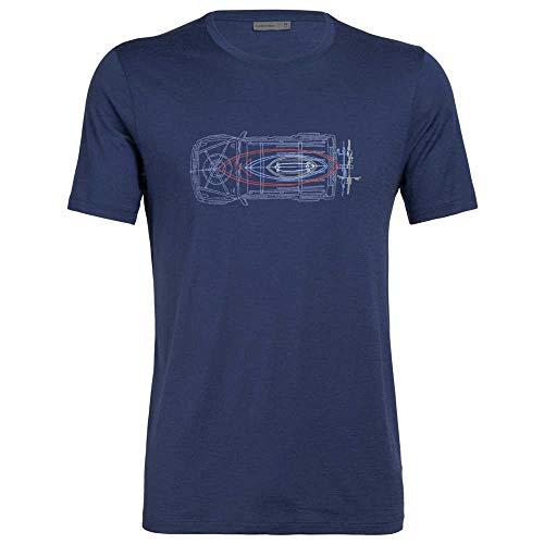 Icebreaker T-shirt Tech Lite Wireframe Wonder - Estate Blue - Taille L