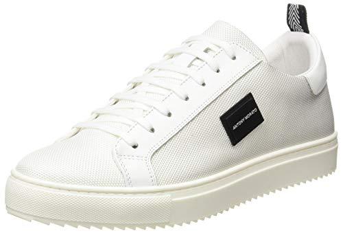 Antony Morato Sneaker DUGGER Metal IN Nylon E Pelle, Oxford Plano Hombre, Bianco, 40 EU